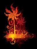 Disegno tropicale di Firey Fotografia Stock Libera da Diritti