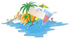 Disegno tropicale variopinto illustrazione di stock