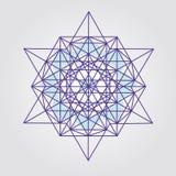 Disegno del tetraedro della stella fotografie stock libere da diritti