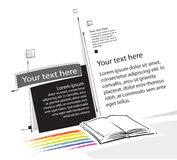 Disegno universale della pagina-disposizione Fotografia Stock