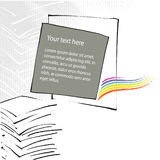 Disegno universale della pagina-disposizione, tema dell'ufficio illustrazione di stock