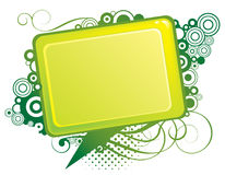 Disegno verde astratto Fotografia Stock Libera da Diritti