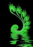 Disegno verde astratto illustrazione di stock