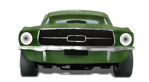Disegno verde dell'automobile illustrazione di stock