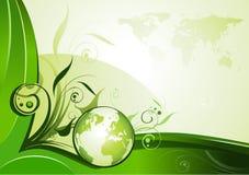 Disegno verde della priorità bassa Fotografie Stock
