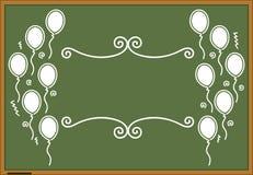 Disegno verde di celebrazione della lavagna Fotografie Stock Libere da Diritti