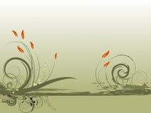 Disegno verde floreale Fotografia Stock Libera da Diritti