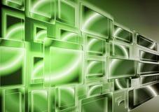 Disegno verde intenso di tecnologia. Vettore Immagine Stock
