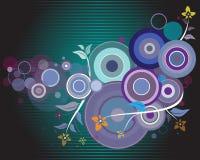 Disegno viola del cerchio con le piante Fotografie Stock