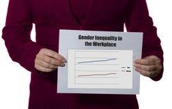 Diseguaglianza di genere nel posto di lavoro Fotografia Stock