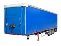 Disengaged trailer from a Semi Truck Royalty Free Stock Images