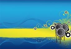 Diseño abstracto azul del partido Imagen de archivo libre de regalías