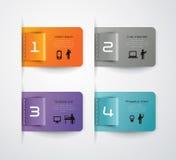Diseño abstracto de la plantilla del infographics Fotografía de archivo