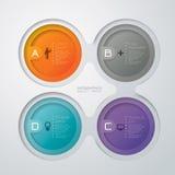 Diseño abstracto de la plantilla del infographics Imagen de archivo libre de regalías
