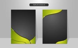 Diseño abstracto de oro de lujo de la cubierta de marco de la curva del fondo del vector Foto de archivo