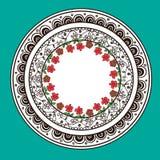Diseño abstracto decorativo dibujado mano de la mandala Imagen de archivo