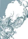 Diseño abstracto drawed mano Foto de archivo