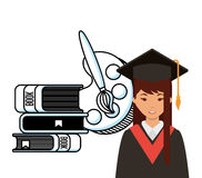 Diseño académico de la graduación Fotografía de archivo