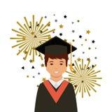 Diseño académico de la graduación Imagen de archivo