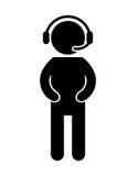 diseño aislado videojuego del icono del playin del videojugador Imágenes de archivo libres de regalías
