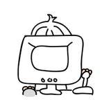 diseño aislado videojuego del icono del playin del videojugador Foto de archivo libre de regalías