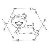Diseño animal de la historieta del oso Imagenes de archivo