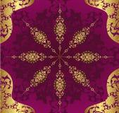 Diseño antiguo de la ilustración del papel pintado del otomano Imagen de archivo