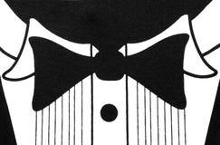 Diseño blanco y negro de la camisa del smoking Foto de archivo