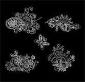 Diseño blanco y negro del mhendi Fotos de archivo