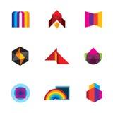 Diseño colorido de la inspiración de la creatividad para los iconos profesionales del logotipo de la compañía Imagenes de archivo