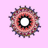 Diseño colorido dibujado mano de la mandala Imagenes de archivo