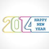 Diseño creativo de la Feliz Año Nuevo 2014 Foto de archivo libre de regalías