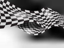 Diseño a cuadros de la disposición del fondo del vector de la bandera de la raza Foto de archivo