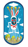 Diseño de carácter del conejo Fotos de archivo libres de regalías