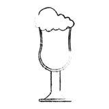 Diseño de cristal aislado del café Imágenes de archivo libres de regalías