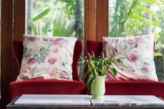 Diseño de estilo moderno de la sala de estar interior con muebles del sofá Imagen de archivo