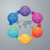 Diseño de Infographic con coloreado Imagen de archivo libre de regalías