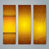 Diseño de la bandera de la colección, fondo africano del arte Imagenes de archivo