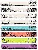 Diseño de la bandera del Web del ornamento Foto de archivo libre de regalías