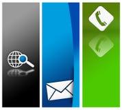 Diseño de la bandera del Web site Imágenes de archivo libres de regalías
