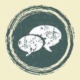 Diseño de la burbuja del discurso del Grunge Fotografía de archivo