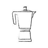 diseño de la caldera del café Imagen de archivo libre de regalías