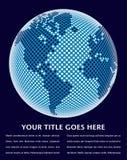 Diseño de la correspondencia de mundo de Digitaces. Foto de archivo