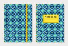 Diseño de la cubierta del cuaderno Sistema del vector Fotos de archivo libres de regalías