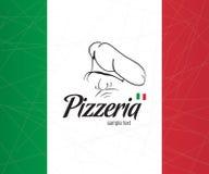 Diseño de la cubierta el menú para la pizzería Foto de archivo libre de regalías