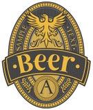 Diseño de la escritura de la etiqueta de la cerveza Fotografía de archivo libre de regalías