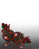 Diseño de la esquina de las decoraciones de la Navidad Foto de archivo
