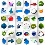Diseño de la etiqueta y de la etiqueta engomada Imágenes de archivo libres de regalías