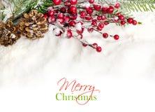 Diseño de la frontera de la decoración de la Navidad Foto de archivo