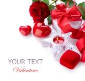 Diseño de la frontera de la tarjeta del día de San Valentín Foto de archivo libre de regalías